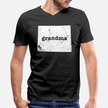 Wyoming Gift Wyoming Grandmother Gifts - Men's V-Neck T-Shirt by Canvas
