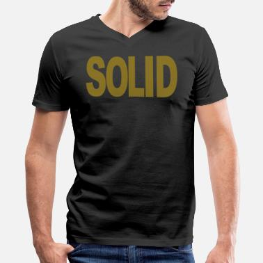 Solidity SOLID - Men's V-Neck T-Shirt by Canvas