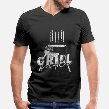 Grilled Meat BBQ meat grill food - Men's V-Neck T-Shirt by Canvas
