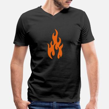 Shape flames 1 - Men's V-Neck T-Shirt
