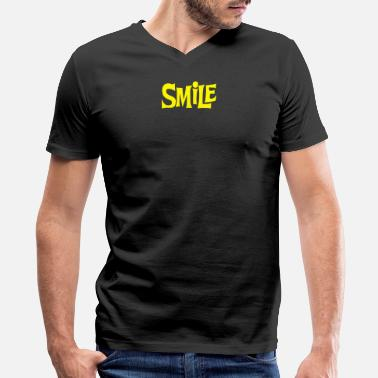 Yellow Smile Smile Yellow - Men's V-Neck T-Shirt by Canvas