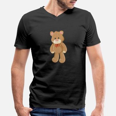 Bears Drawing bear-children-animal-drawing-cool - Men's V-Neck T-Shirt by Canvas