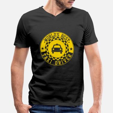 Cab Driver Cabbie Cab Driver World's Best Taxi Driver Cabman - Men's V-Neck T-Shirt