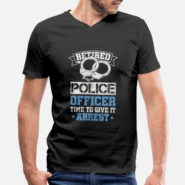 Cop Retired Police Officer Cop Policeman Policewoman - Men's V-Neck T-Shirt