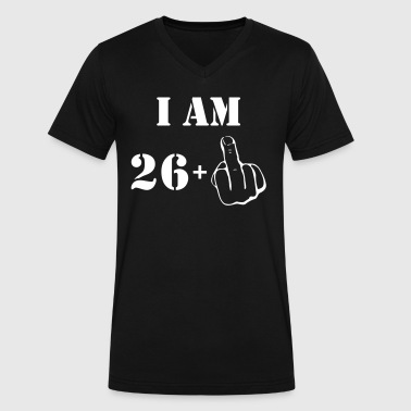 27th Birthday T Shirt 26 + 1 Made in 1990 - Men's V-Neck T-Shirt by Canvas