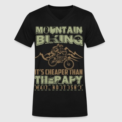 Mountain biking - Men's V-Neck T-Shirt by Canvas