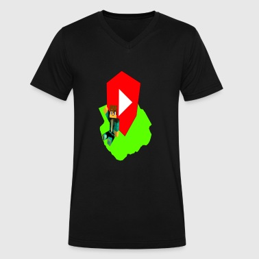 YouTube Block - Men's V-Neck T-Shirt by Canvas