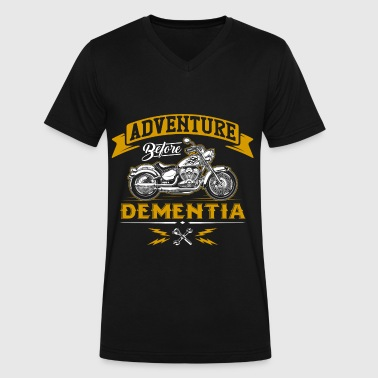 Adventure Before Dementia - Funny Motorcycle Biker - Men's V-Neck T-Shirt by Canvas
