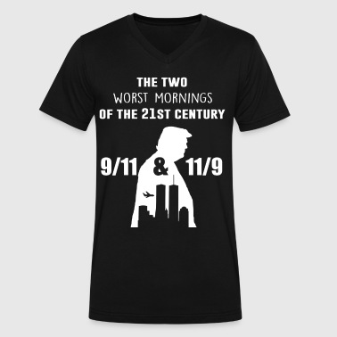 The two worst mornings of the 21st century - Men's V-Neck T-Shirt by Canvas
