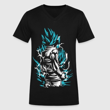 Dragon Ball - Goku SSB - Men's V-Neck T-Shirt by Canvas