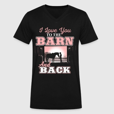 Horse Lovers Horse Girl Mom Horses Barn Love - Men's V-Neck T-Shirt by Canvas