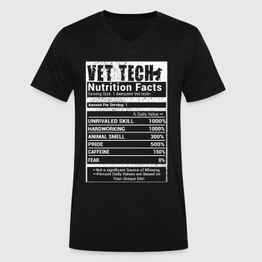 Vet Tech nutrition Facts - Men's V-Neck T-Shirt by Canvas