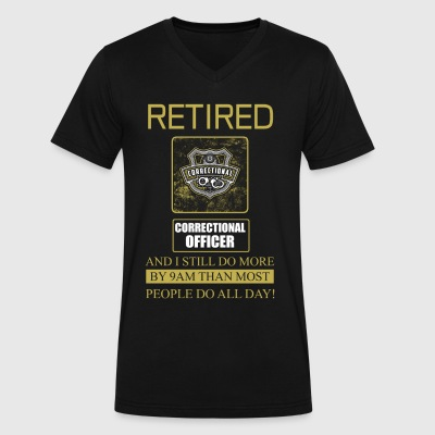 Correctional Officer Retired - Men's V-Neck T-Shirt by Canvas