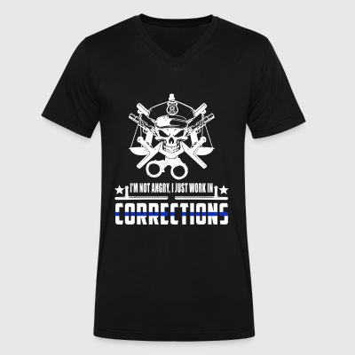 Correction Officer I'm Not Angry - Men's V-Neck T-Shirt by Canvas
