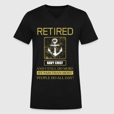 Navy Chief Retidred - Men's V-Neck T-Shirt by Canvas