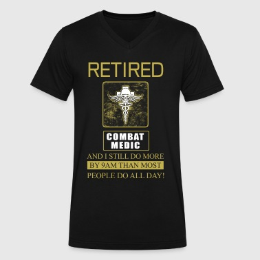 Combat Medic Retired - Men's V-Neck T-Shirt by Canvas