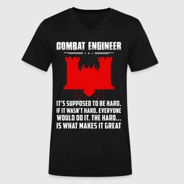 Combat Engineer It s Supposed To Be - Men's V-Neck T-Shirt by Canvas