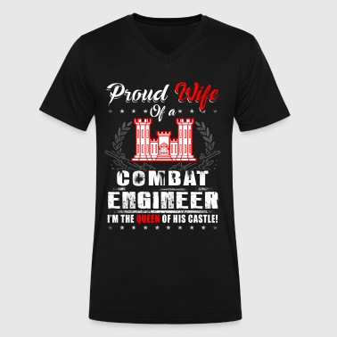 Combat Engineer Proud Wife - Men's V-Neck T-Shirt by Canvas