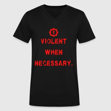 Violent Shirt - Men's V-Neck T-Shirt by Canvas