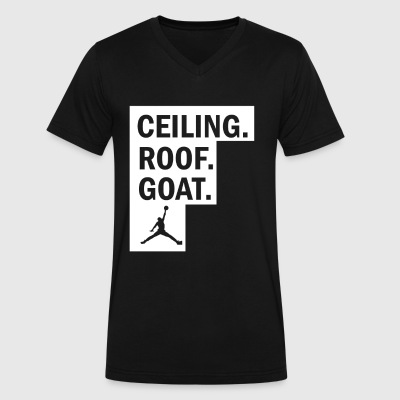 ceiling roof goat - Men's V-Neck T-Shirt by Canvas