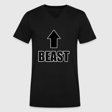 beast - Men's V-Neck T-Shirt by Canvas