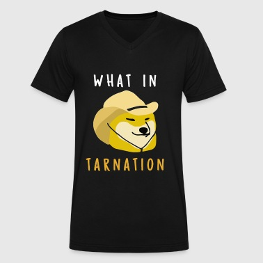 What In Tarnation - Men's V-Neck T-Shirt by Canvas