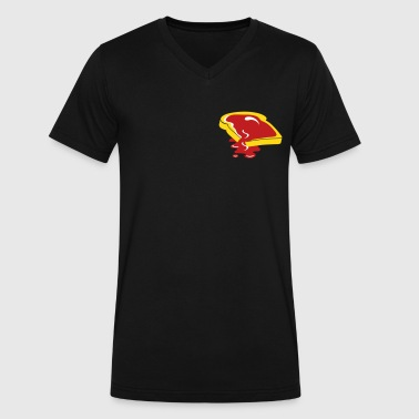 A slice of bread with jam - Men's V-Neck T-Shirt by Canvas