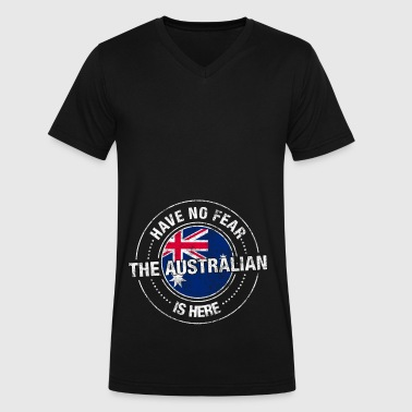 Have No Fear The Australian Is Here Shirt - Men's V-Neck T-Shirt by Canvas