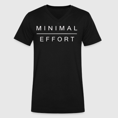 Minimal Effort - Men's V-Neck T-Shirt by Canvas