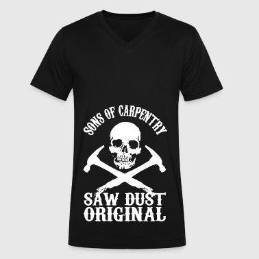 Son Of Carpentry Shirt - Men's V-Neck T-Shirt by Canvas