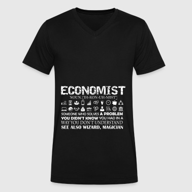 Economist Shirt - Men's V-Neck T-Shirt by Canvas