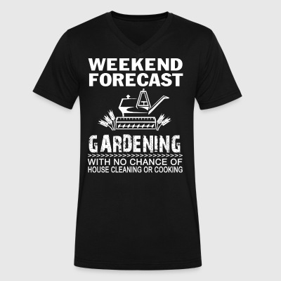 WEEKEND FORECAST GARDENING - Men's V-Neck T-Shirt by Canvas