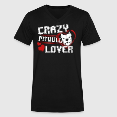 Pitbull Lover Shirt - Men's V-Neck T-Shirt by Canvas