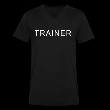 trainer - Men's V-Neck T-Shirt by Canvas
