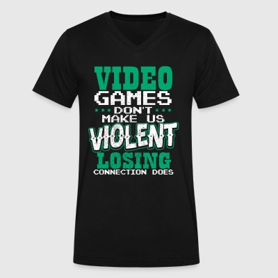 Video games playing saying - Men's V-Neck T-Shirt by Canvas