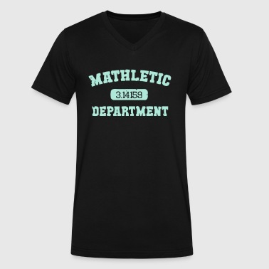 Mathletic Department - Men's V-Neck T-Shirt by Canvas
