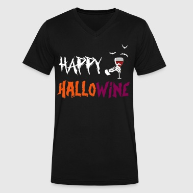 Halloween Happy Hallow Wine on October 31 - Men's V-Neck T-Shirt by Canvas