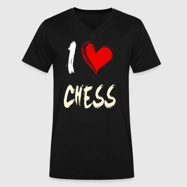I love CHESS - Men's V-Neck T-Shirt by Canvas