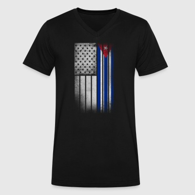 Cuban American Flag - Half Cuban Half American - Men's V-Neck T-Shirt by Canvas