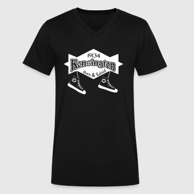 Kensington Born Raised - Men's V-Neck T-Shirt by Canvas