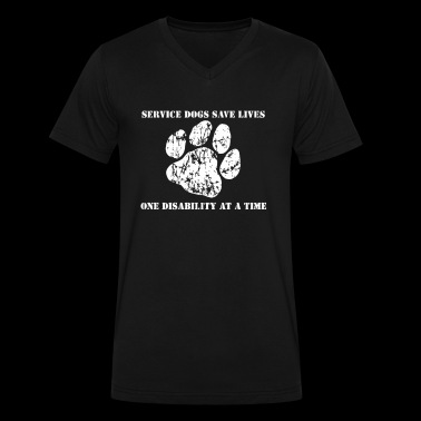 Help the Service Dog - Men's V-Neck T-Shirt by Canvas