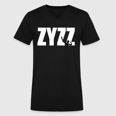 Zyzz text - Men's V-Neck T-Shirt by Canvas