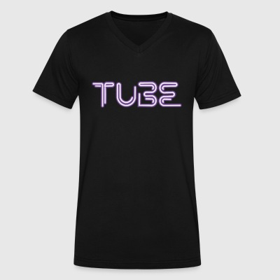 First Tube - Men's V-Neck T-Shirt by Canvas