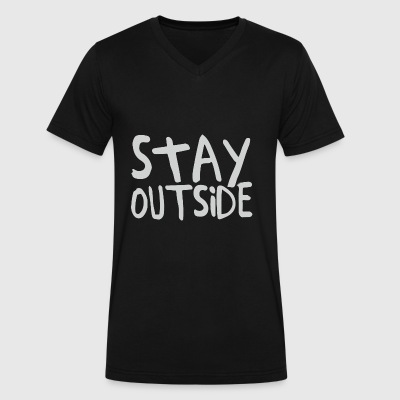 Stay Outside - Men's V-Neck T-Shirt by Canvas