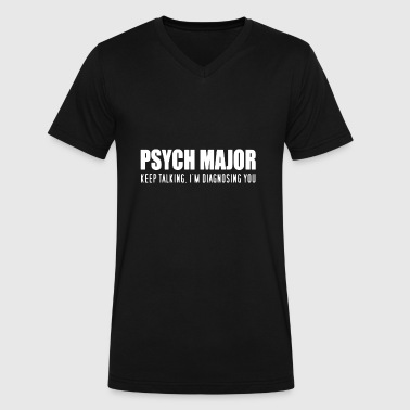 Psych Major T Shirt - Men's V-Neck T-Shirt by Canvas