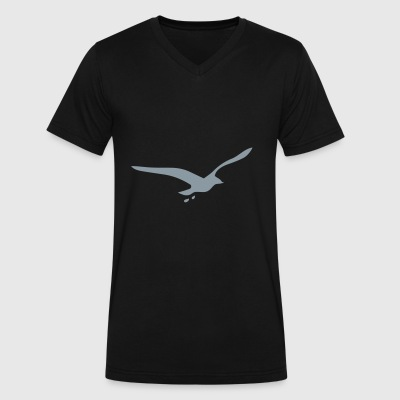 seagull - Men's V-Neck T-Shirt by Canvas