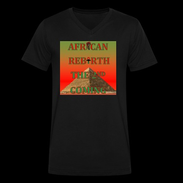 African Rebirth Black Power Afrocentric T Shirt - Men's V-Neck T-Shirt by Canvas