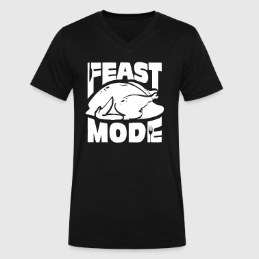 Feast Mode - Men's V-Neck T-Shirt by Canvas