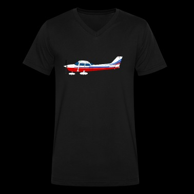 airplane182 - Men's V-Neck T-Shirt by Canvas
