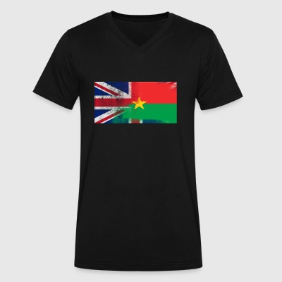 British Burkinabe Half Burkina Faso Half UK Flag - Men's V-Neck T-Shirt by Canvas
